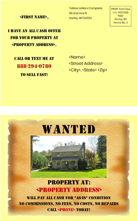 Wanted Street View Postcard
